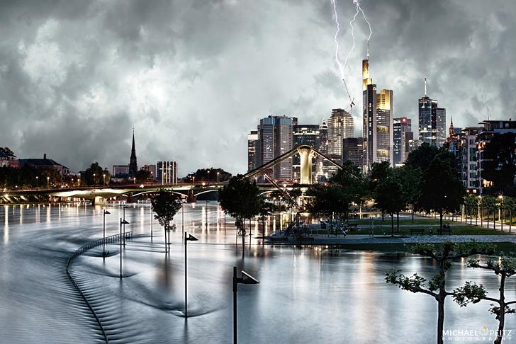 FotoKunst75 - Storm over frankfurt