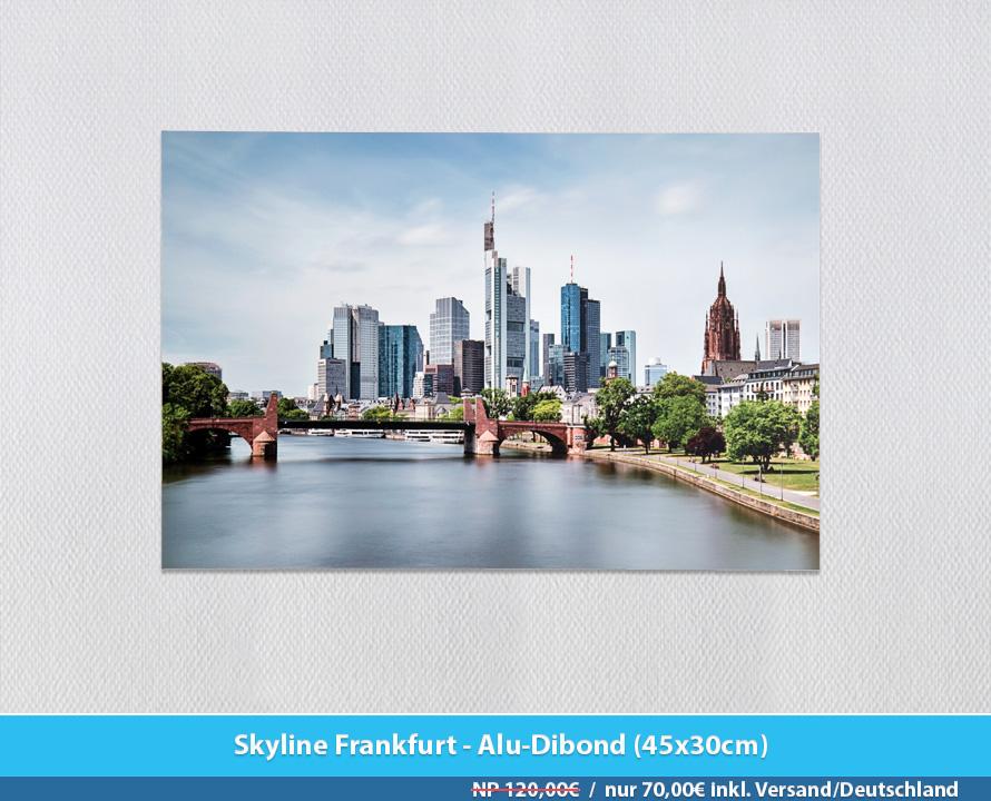 Bildershop Frankfurt - 007 Skyline Frankfurt Alu-Dibond