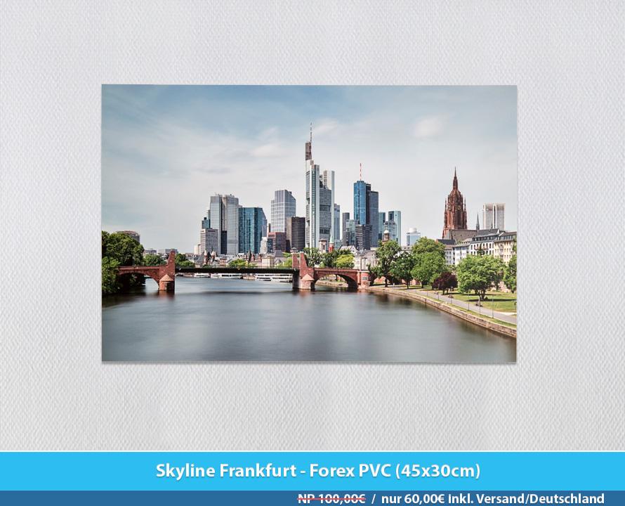 Bildershop Frankfurt - 008 Skyline Frankfurt Forex PVC