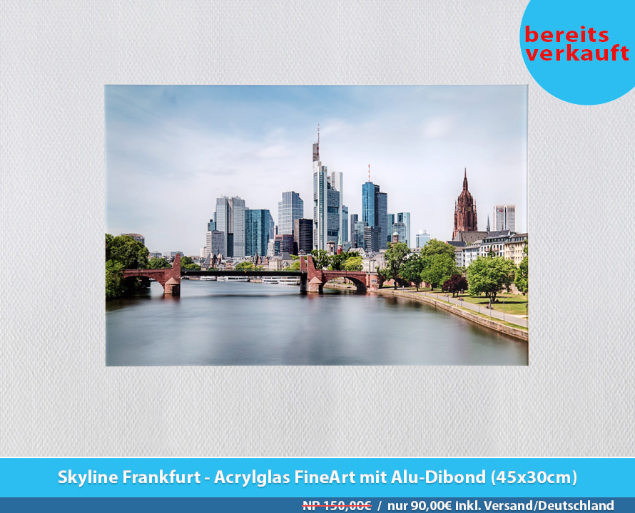 Bildershop Frankfurt - 009 Skyline Frankfurt Acrylglas