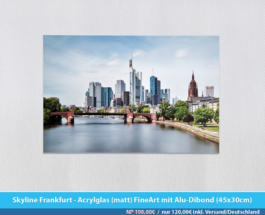 Bildershop Frankfurt - 010 Skyline Frankfurt Acrylglas (matt)